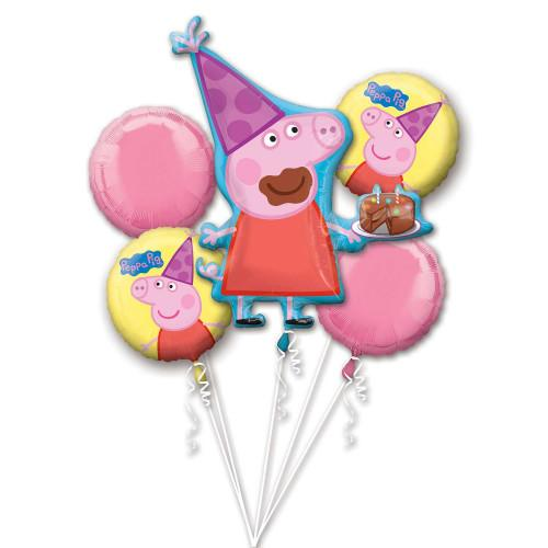 Peppa Pig Balloon Bouquet inflated with helium