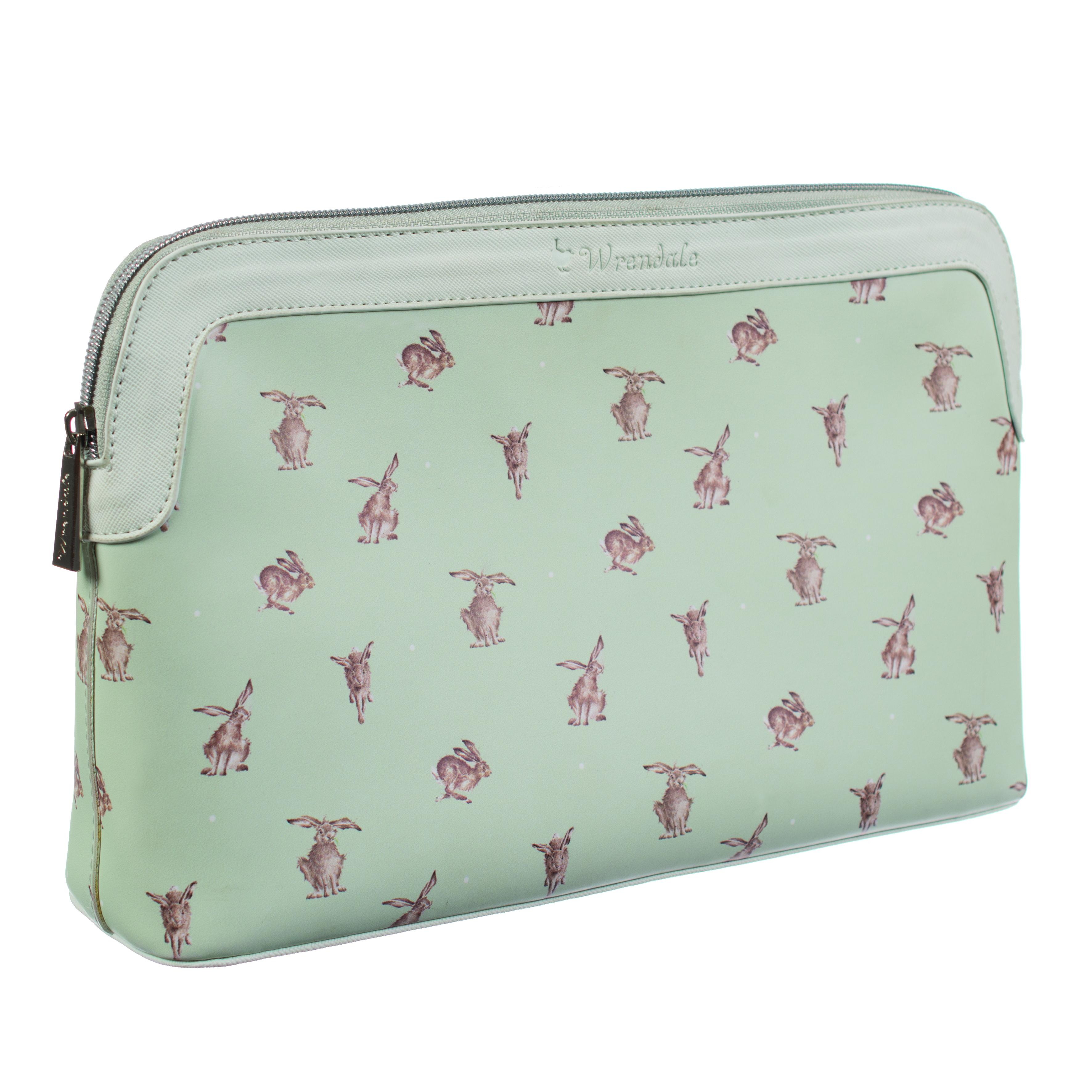 WRENDALE COSMETIC BAG LARGE - HARE SIDE