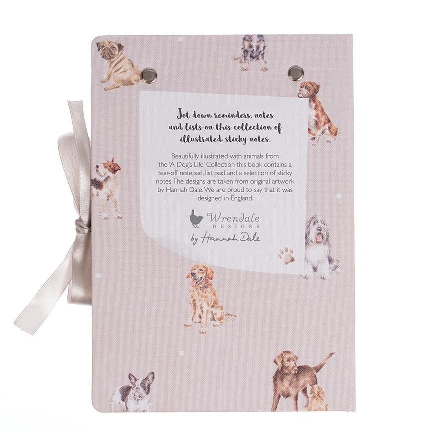 WRENDALE STICKY NOTES BOOK - DOGS BACK