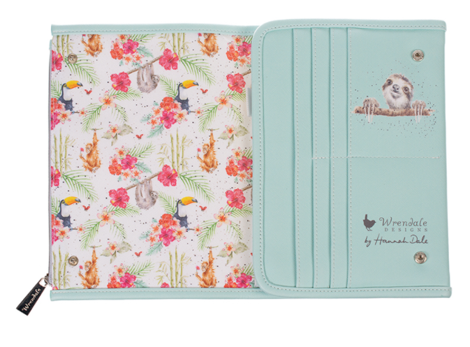 Wrendale Designs Notebook Wallet Zoology Collection Giraffe Inside cover