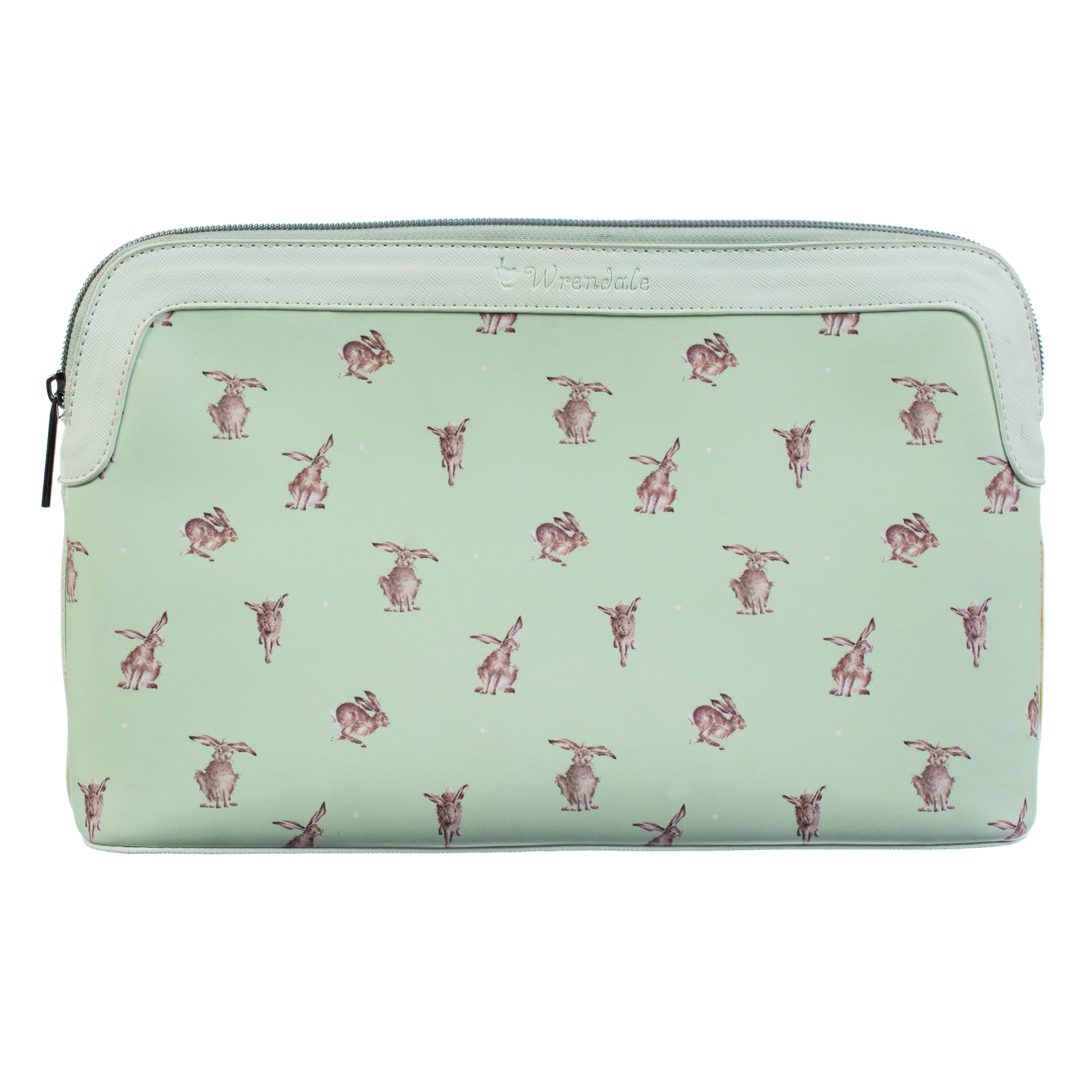 WRENDALE COSMETIC BAG LARGE - HARE FRONT