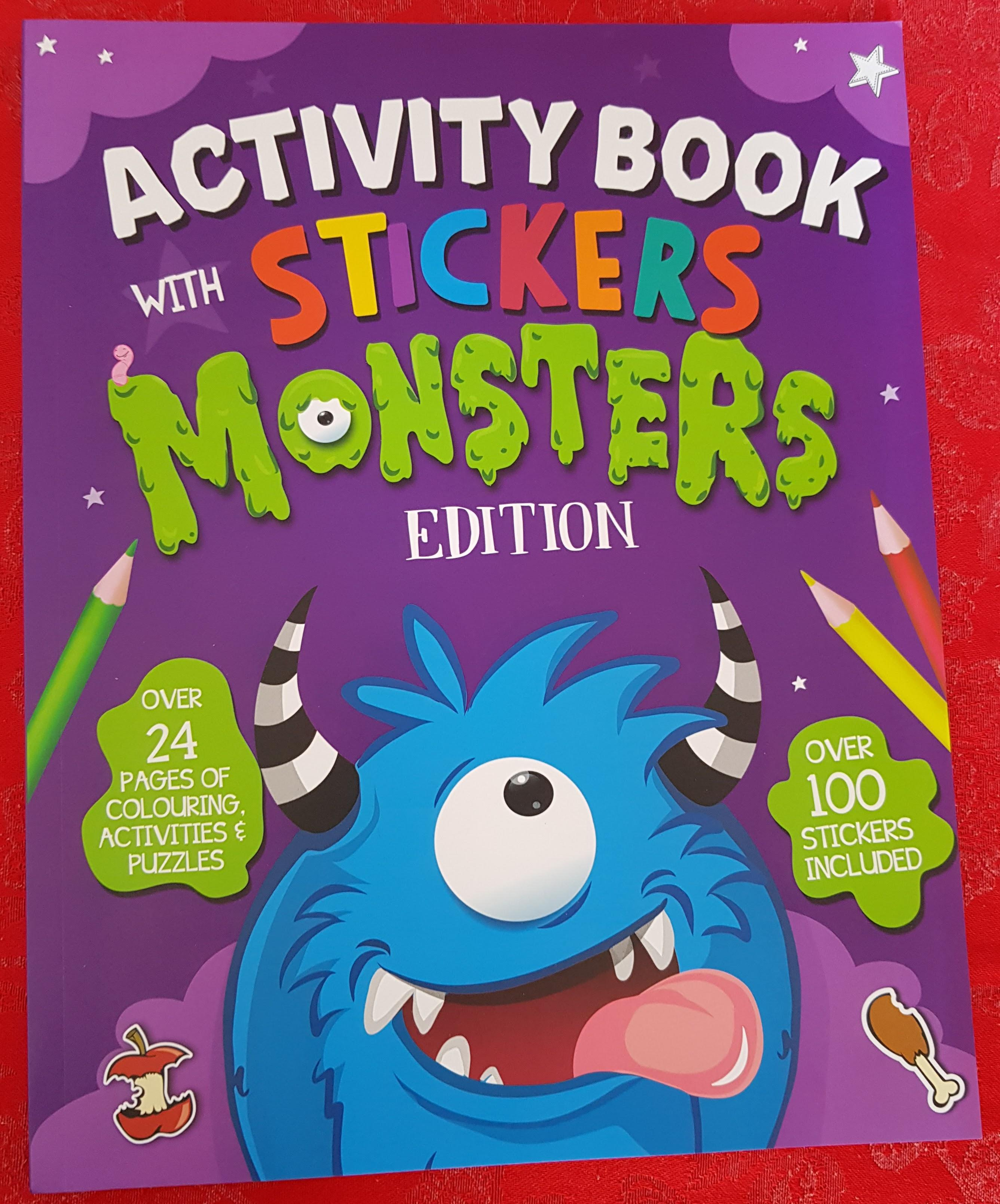 Monster Sticker Book Front Cover