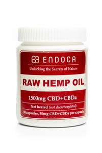 Endoca Raw CBD Hemp Oil Capsules (15%)