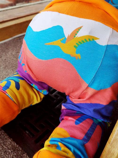 merle kids dinosaur leggings bum