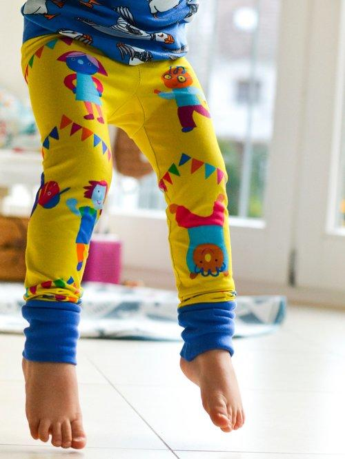 merle kids dance party leggings modelled