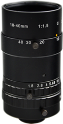 Azure C-Mount 10-40mm Zoom Lens