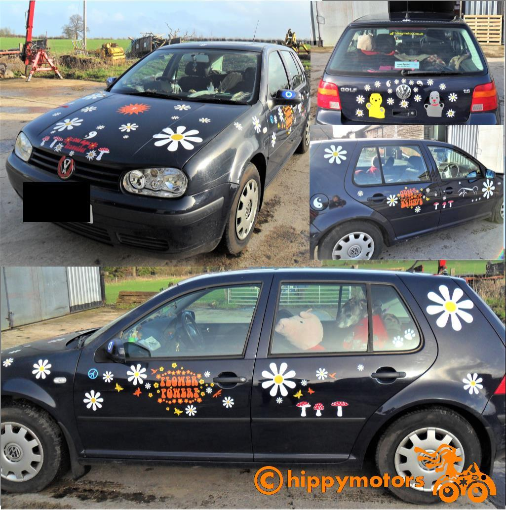 daisy flower car sticker kit by hippy motors