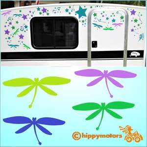 dragonfly decals for cars and camper vans by hippy motors