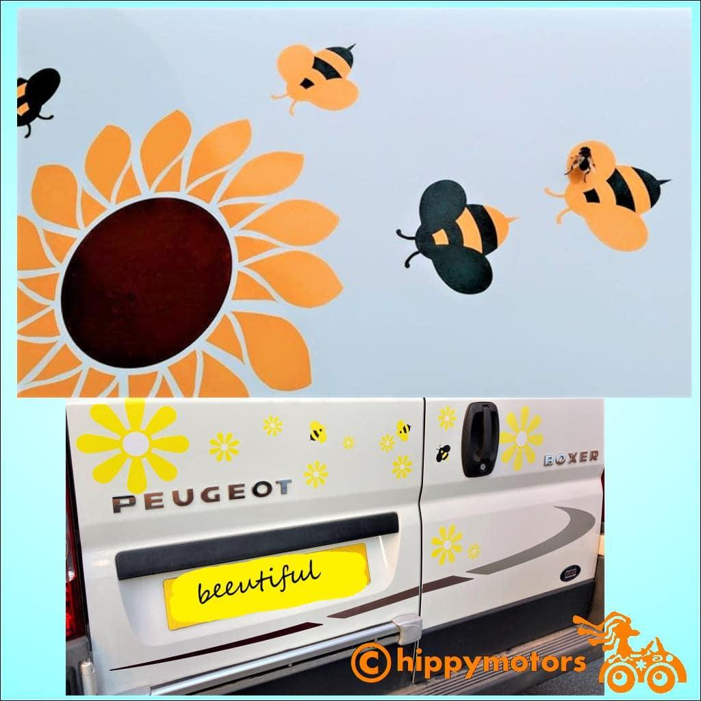 bee decals and bee stickers on cars