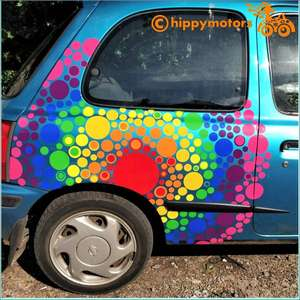 vinyl Spot decals on camper vans and cars