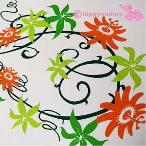 Passion Flower Vine Decal