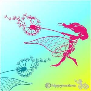 dandelion fairy car sticker