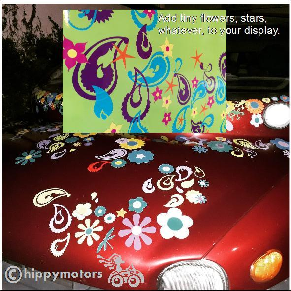 Paisley Design graphics on car camper van