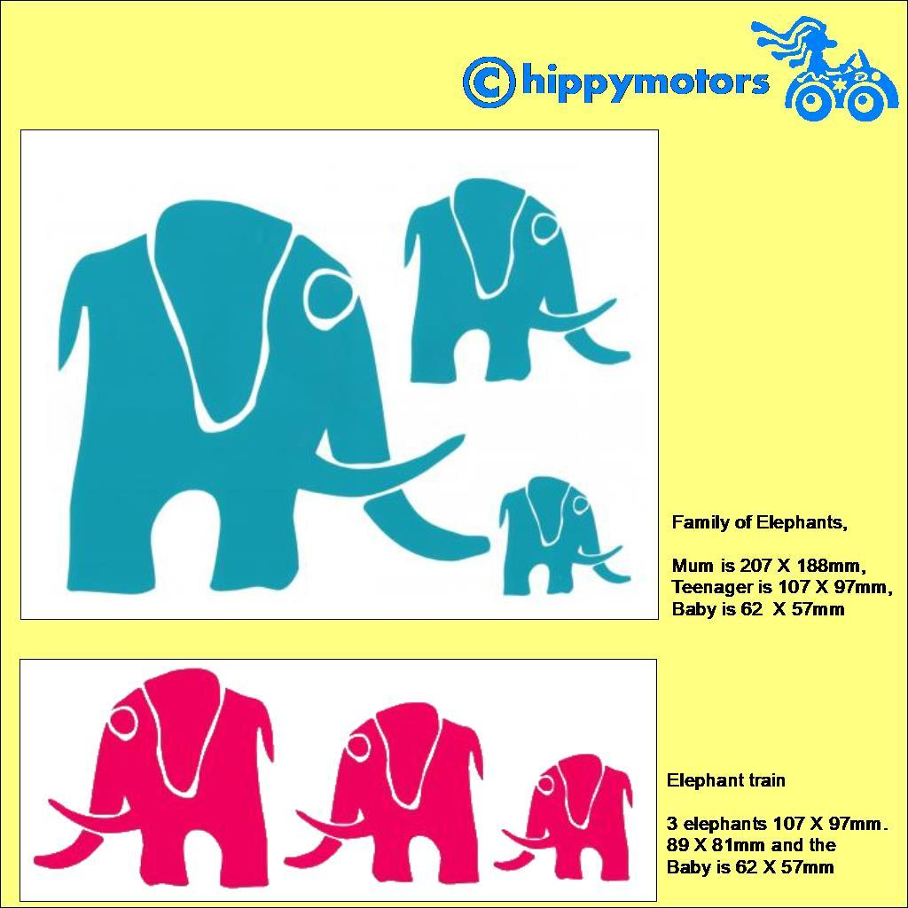 Elephant vehicle sticker sheets
