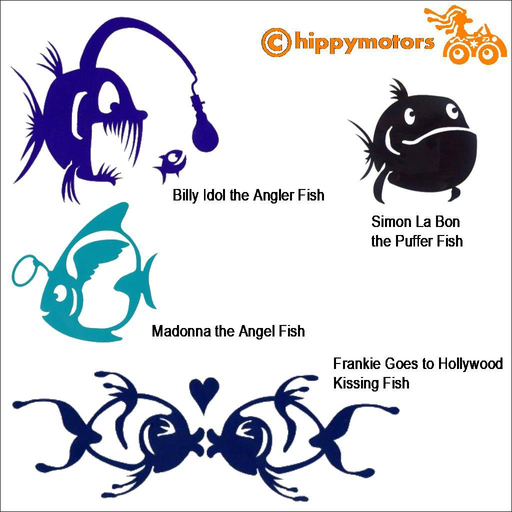 Fish car decals