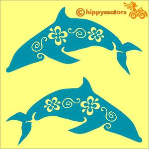 Dolphin car transfer decals