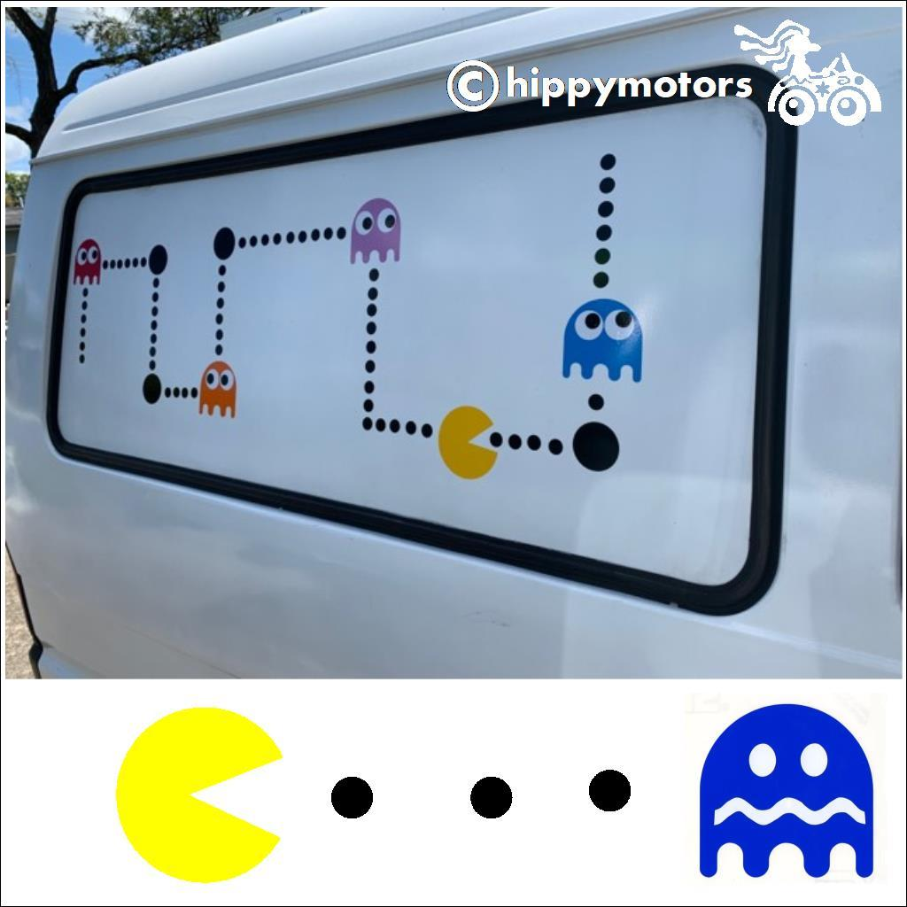 pacman vinyl sticker kit for cars camper vans caravans buses