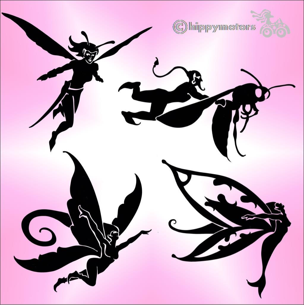 fairy window car body stickers hippy motors