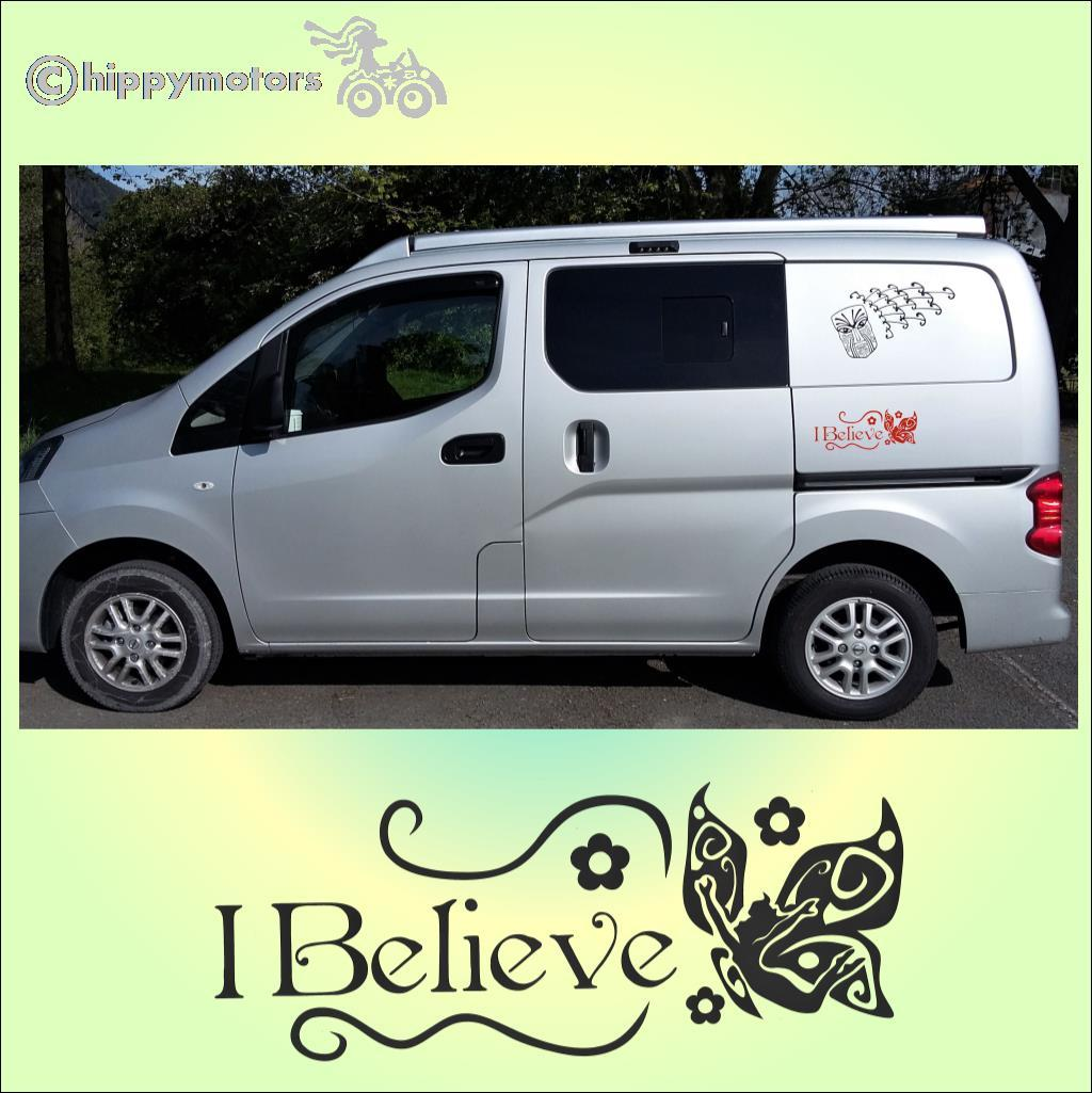believe camper van graphics fairy sticker