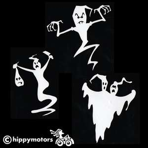 halloween Ghost vinyl car window stickers