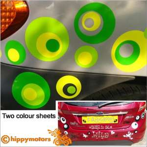 spotty vinyl stickers for cars and caravans