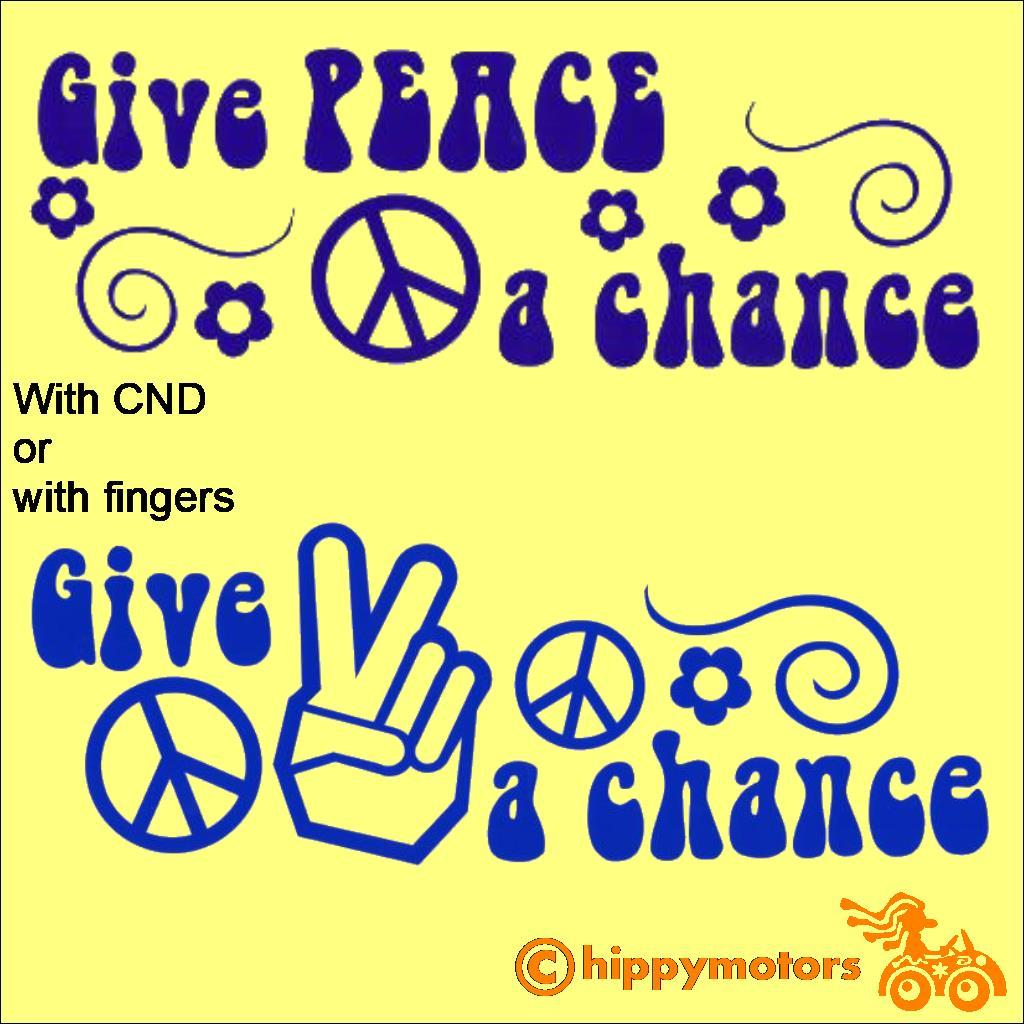 Beatles Lennon give Peace a chance vinyl sticker decal