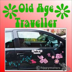 Old age traveller decal