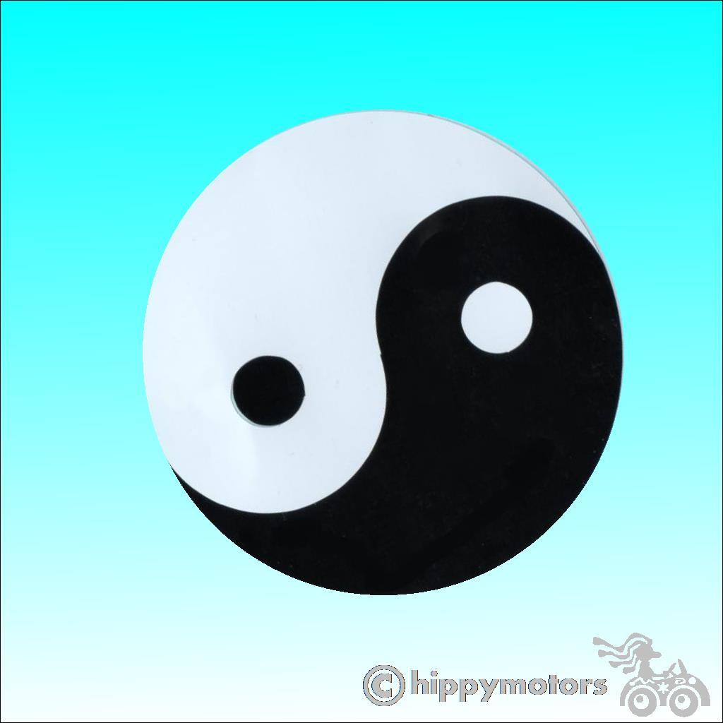 yin yang symbol for cars, caravans and camper vans by hippy motors