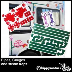 steam plant  vinyl decal kit for vans and cars