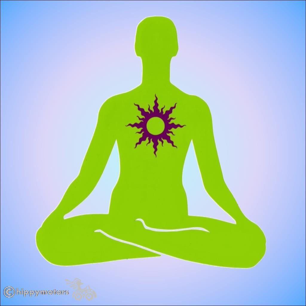 yoga lotus symbol vinyl vehicle sticker window decal