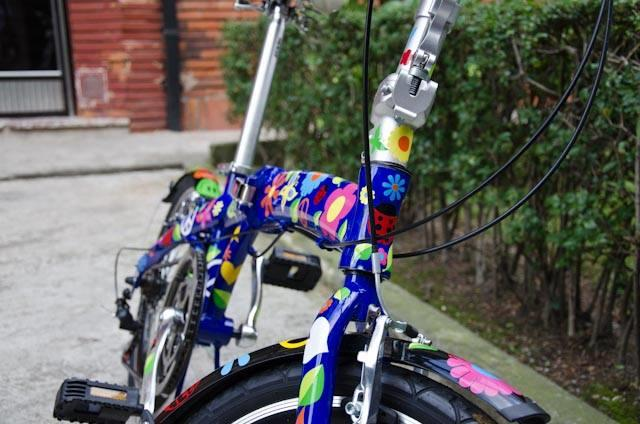bicycle vinyl flower decals bike stickers