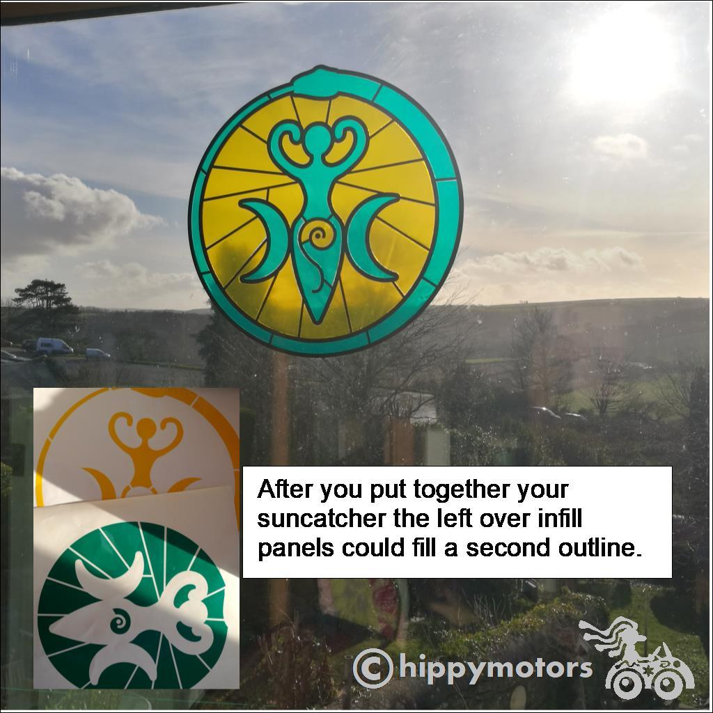 Goddess sun catcher vinyl window decoration