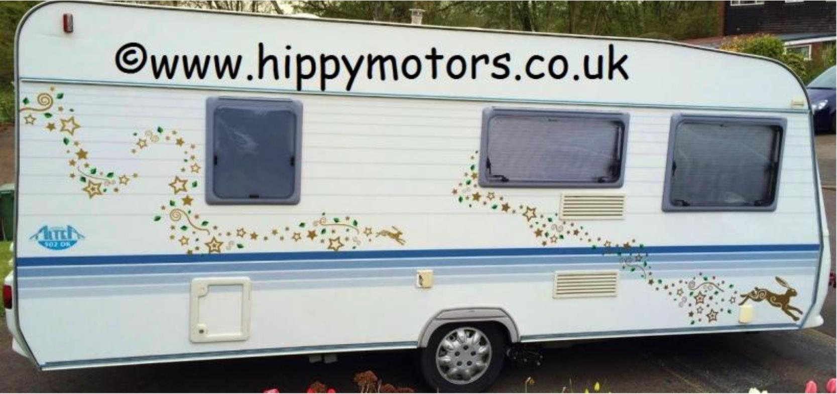 caravan with stars and hares vinyl transfers