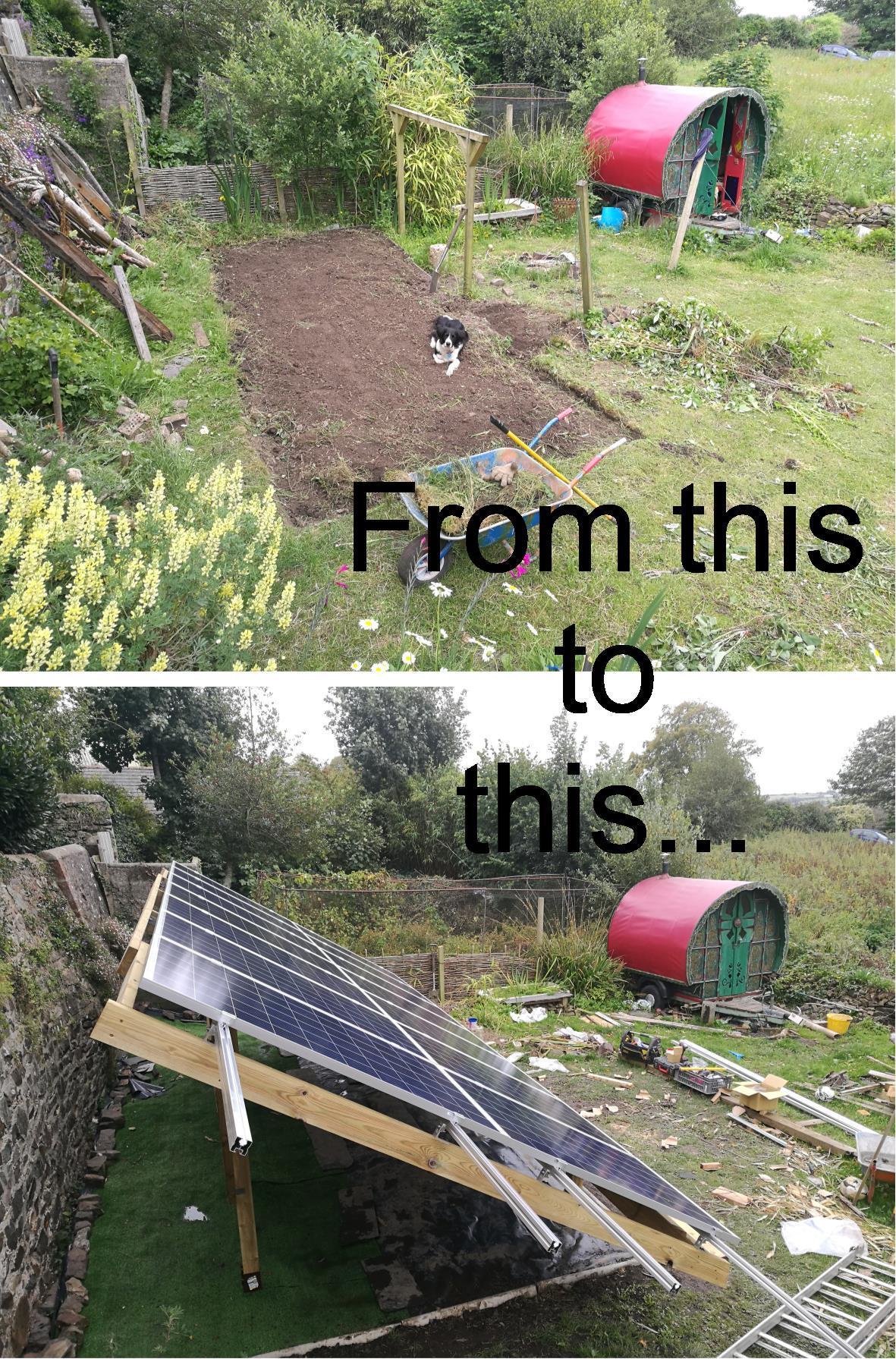 solar power installation in Devon