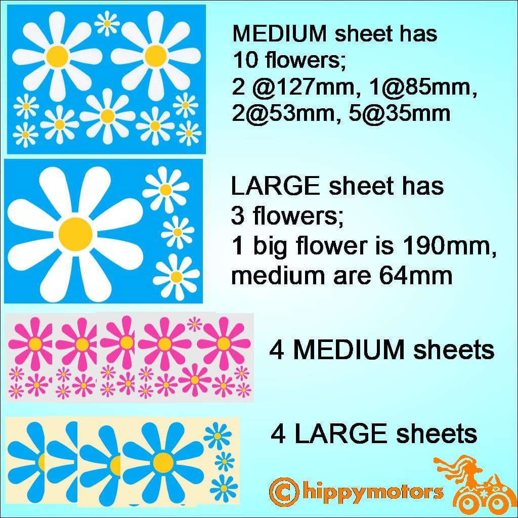 Daisy vinyl decal transfer for windows walls vehicles