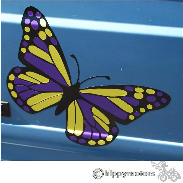 Butterfly decal on van
