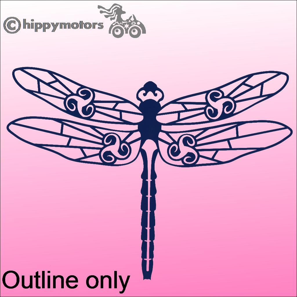 Dragonfly Decal outline