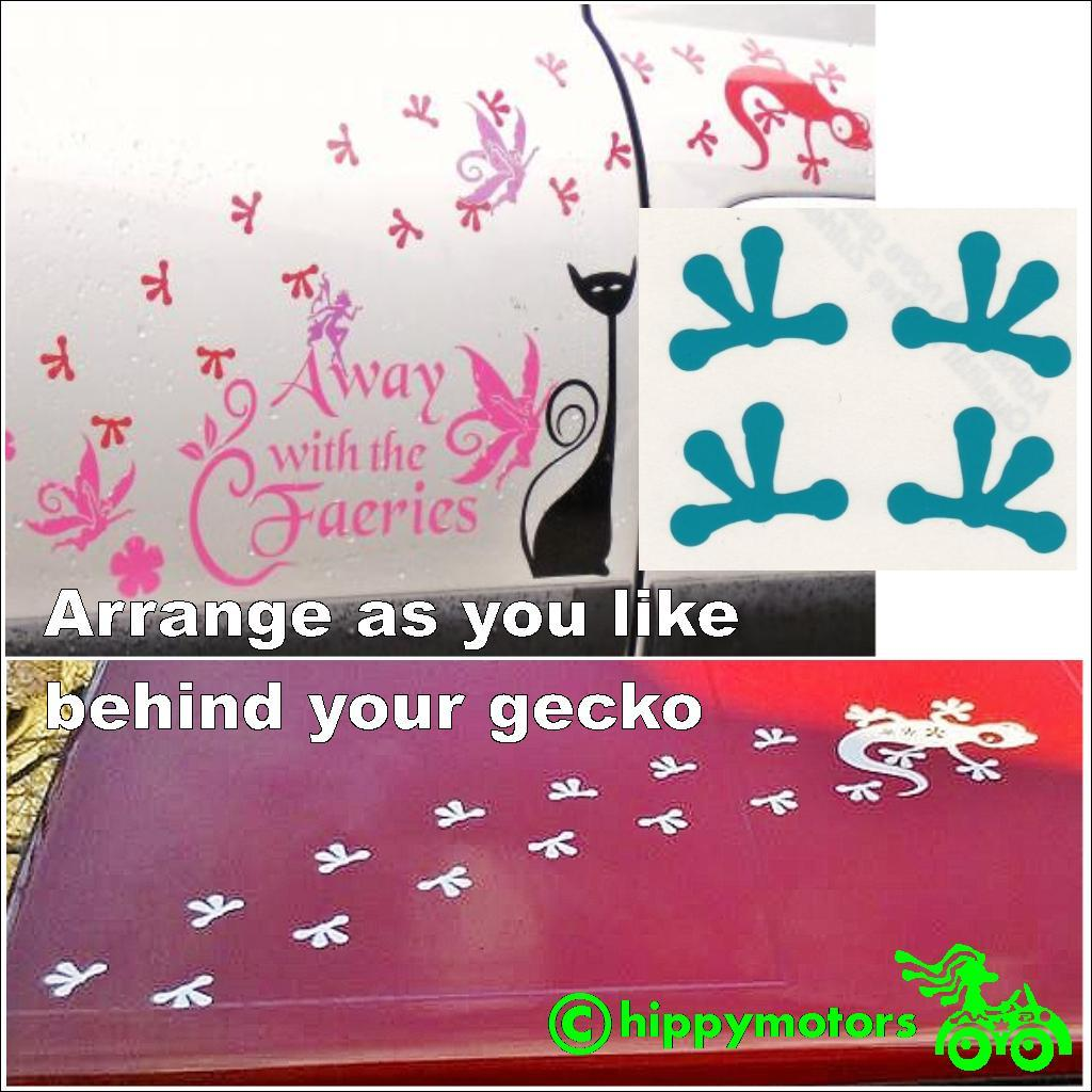Gecko foot vinyl sticker prints for cars