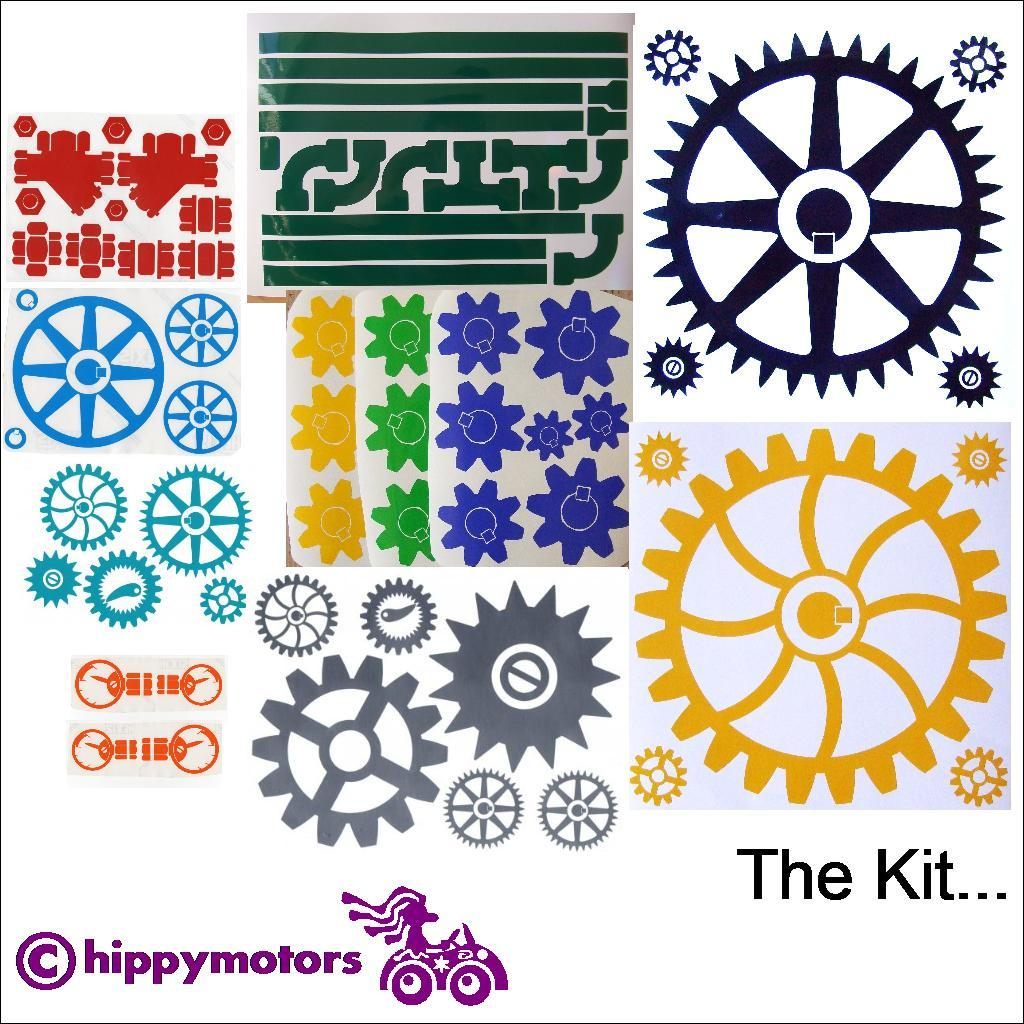 Steam punk decal kit by Hippy Motors