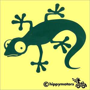 Gecko vinyl decal for vehicles walls windows
