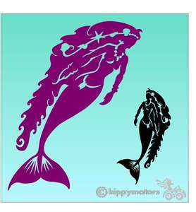 mermaid car caravan sticker decal hippy motors