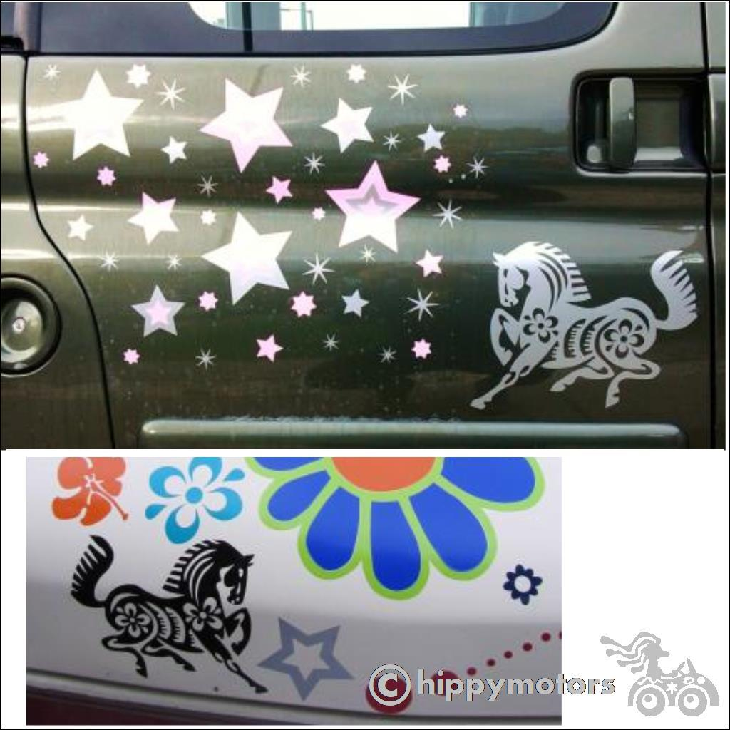 Horse stickers on cars