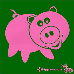 Pig car sticker