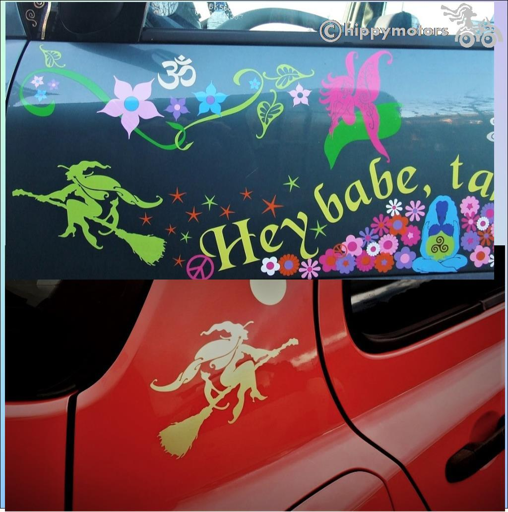 witch decal caravan transfer by hippy motors