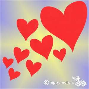 heart stickers for walls cars caravans
