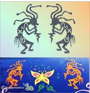 kokopelli sticker car transfer hippy motors