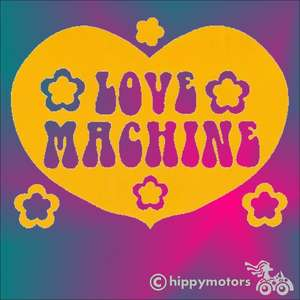 love machine vinyl sticker decal for laptops cars windows