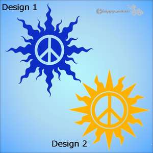 cnd peace sun caravan decal or car sticker for windows and vehicles