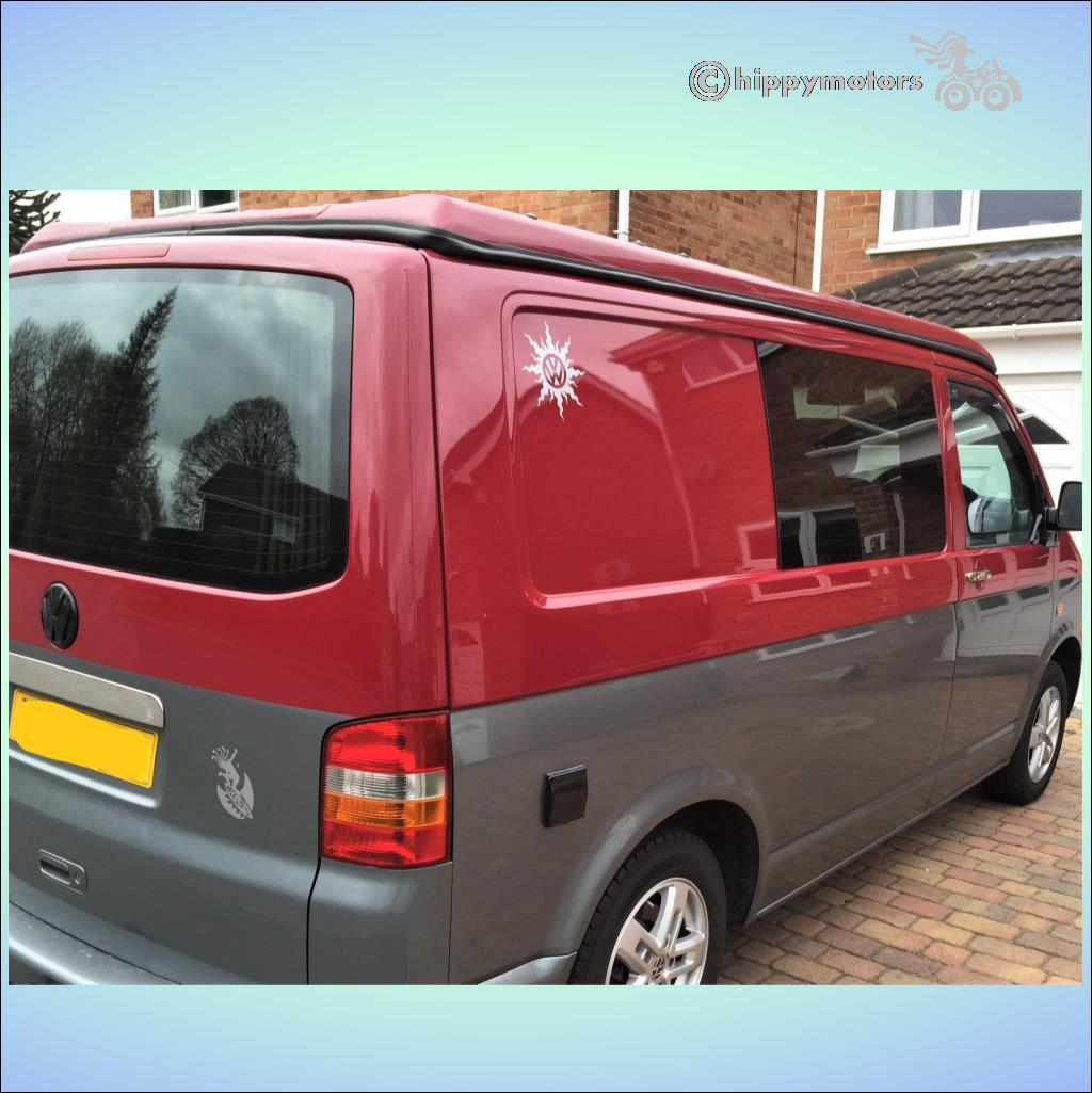 VW sun sticker for camper vans caravans and cars