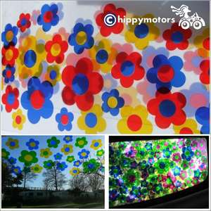 flower window decals on windscreen